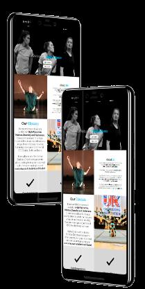 Kobika Dance Mobile Version School Website Design Top Image