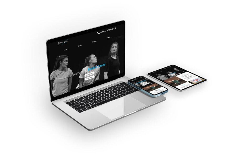 Kobika Dance School Website Design Top Image